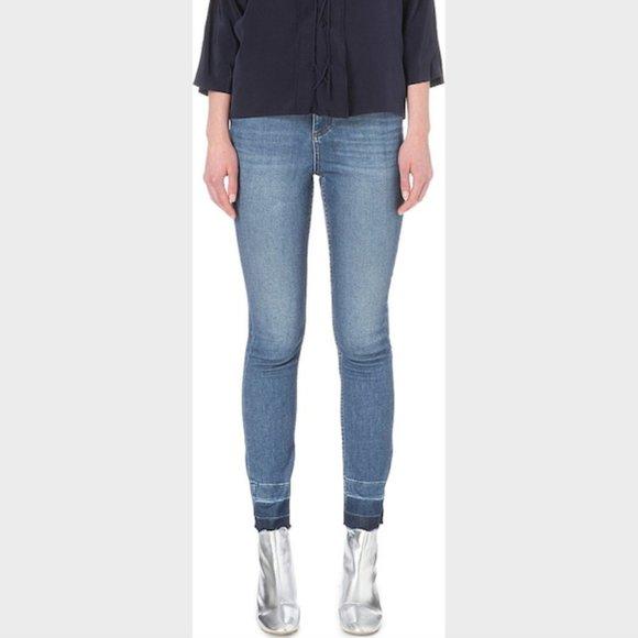 Sandro Paris Blue Denim High Rise Skinny Jeans 36